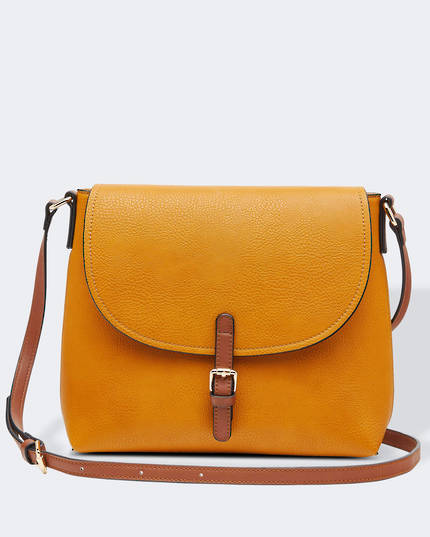 Lucia Cross Body Bag - Mustard
