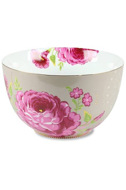 Pip Floral Khaki Bowl 23cm - OUT OF STOCK