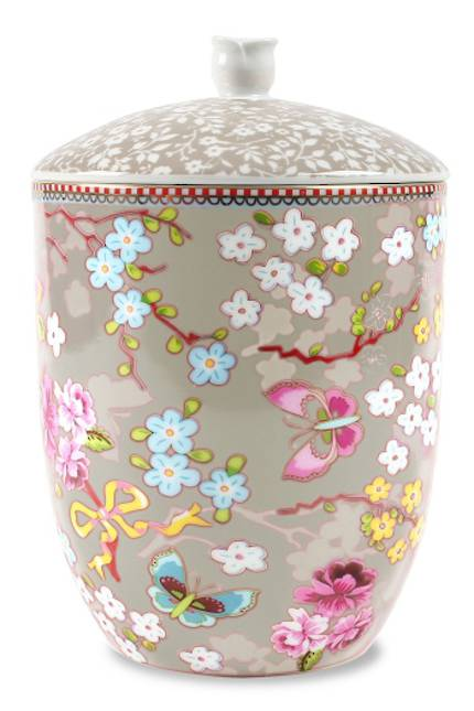Pip Chinese Rose Khaki Storage Jar