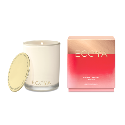 Ecoya Madison Jar - Summer Cherries & Peach