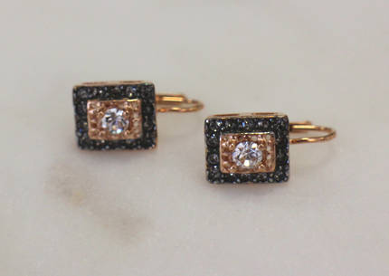 Bright Crystal Square Earrings