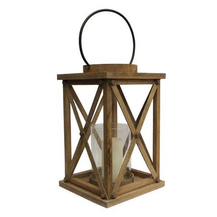 French Country - Large Lodge Natural Lantern