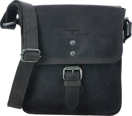 Little Joe Leather Body Bag - Black
