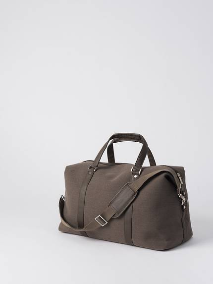 Canvas Weekender Bag - Brown OUT OF STOCK