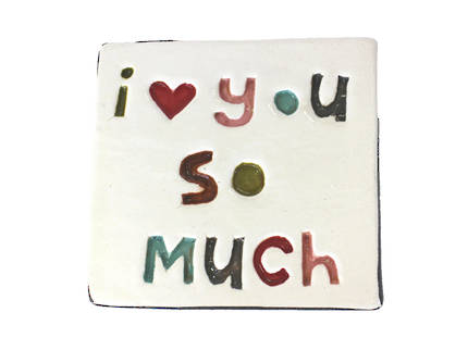 Monster ceramic - I Love You So Much Tile - OUT OF STOCK