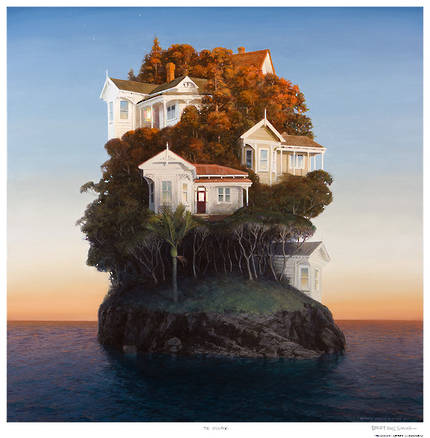 Barry Ross Smith Framed Print - The Village