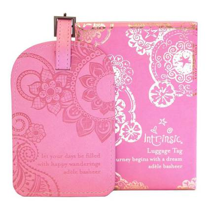 Luggage Tag - Vintage Pink