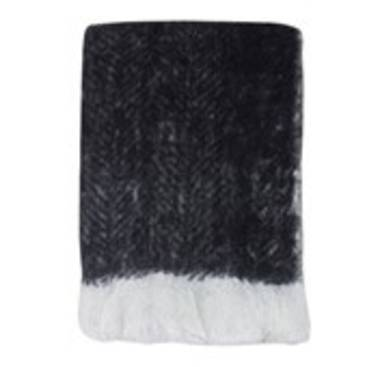 Bliss Mohair Blend Throw - Black