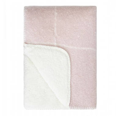 Grid Sherpa Throw - Rose Smoke - OUT OF STOCK