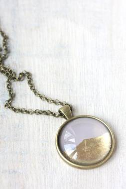 Large Foil Necklace - Smoke - OUT OF STOCK