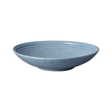 Studio Blue Ridged Bowl Large - Flint - OUT OF STOCK