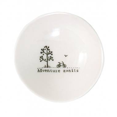 Wobbly Small Bowl - Adventure Awaits
