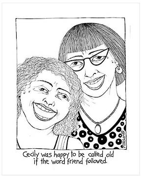 Cecily Tea Towel - Old Friends
