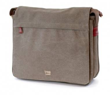 Classic Flap Front Messenger Bag - Brown