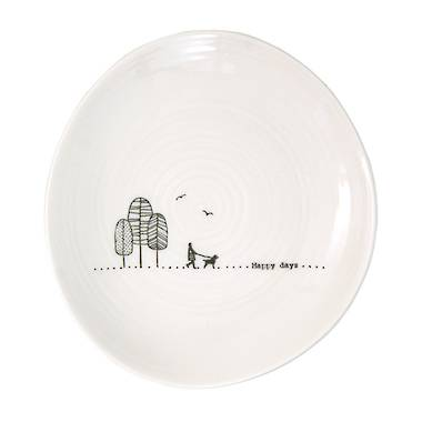 Wobbly Trinket Plate - Happy Days