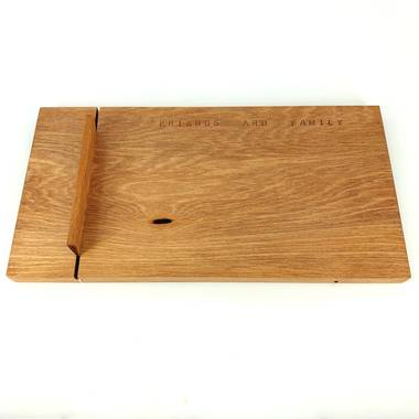 Small Rimu Cheese Board with Knife - Natural