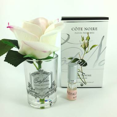 Perfumed Rose Bud - Pink Blush Clear