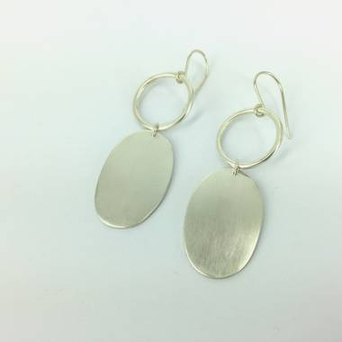 Ooby Silver Earrings