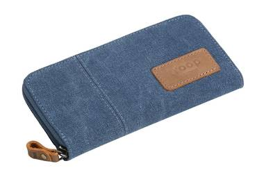 Keystone Long Canvas Wallet - Blue
