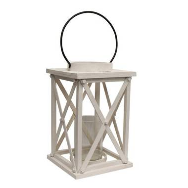 French Country - Large Lodge White Lantern