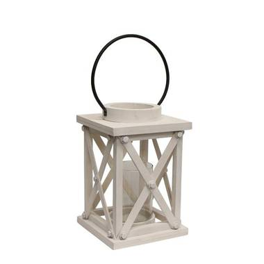 French Country - Small Lodge White Lantern OUT OF STOCK