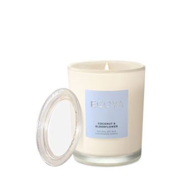 ECOYA Candle in Metro Jar - Coconut & Elderflower