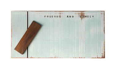 Rimu Wood Cheese Board - Short Pale Green - OUT OF STOCK