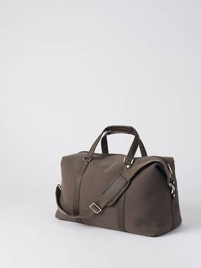 Canvas Weekender Bag - Brown