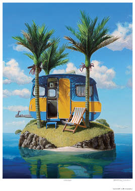 Barry Ross Smith Framed Print - Caravan - OUT OF STOCK