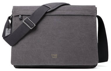 Classic Flap Front Messenger Bag XL - Black