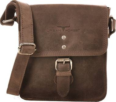 Little Joe Leather Body Bag - Brown