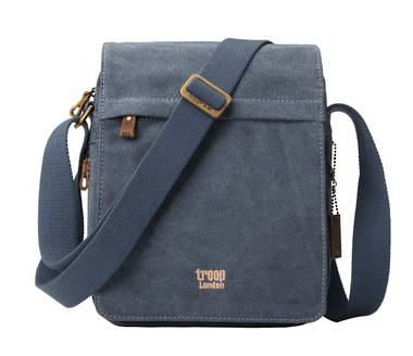 Classic Flap Front Shoulder Bag - Blue