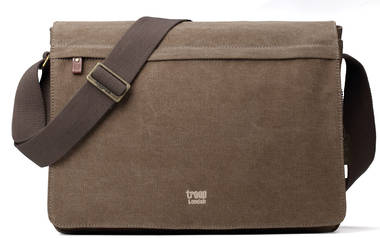 Classic Flap Front Messenger Bag XL - Brown