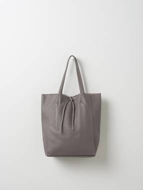 Florence Leather Tote Bag - Mushroom