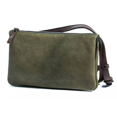 Rugged Hide Isha Bag - Olive