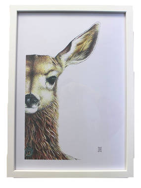 Wildhoney Framed Print - Fawn A3