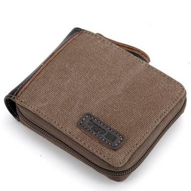 Aspen Canvas Wallet - Brown